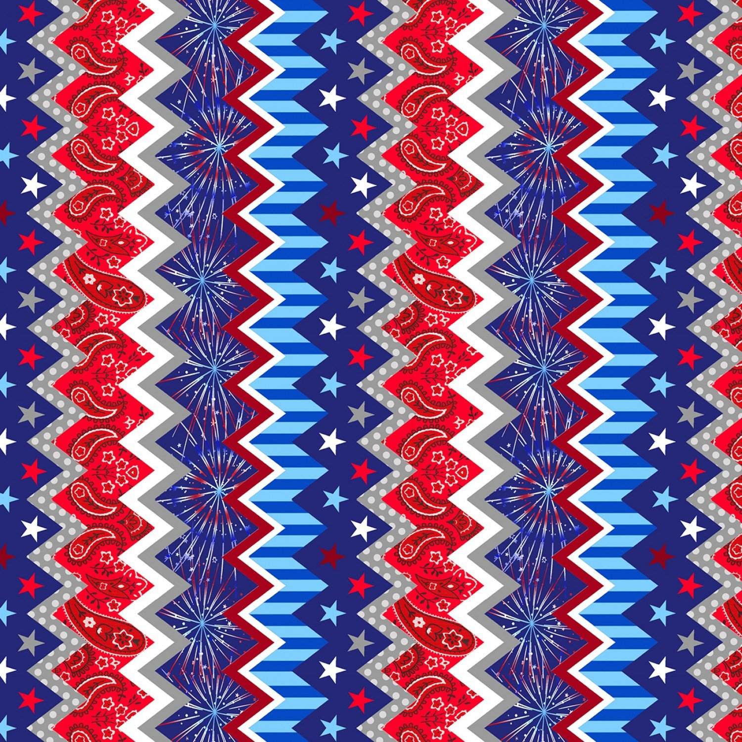 America Home of the Brave 4624-87 Patriotic Chevron Stripe