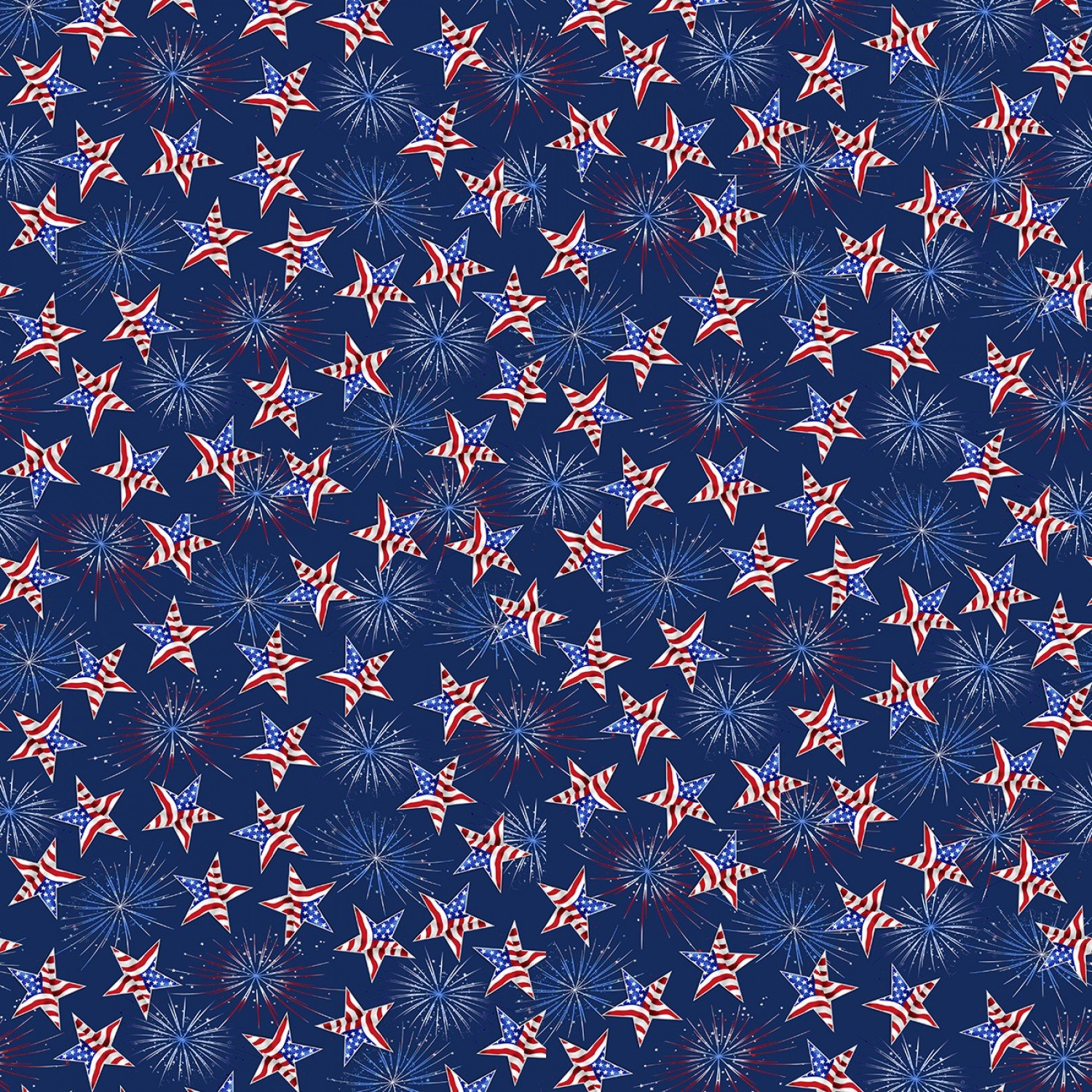 America Home of the Brave 4626-77 Navy Tossed Stars