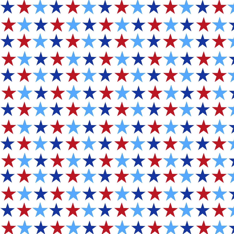 America Home of the Brave 4630-1 White Small Stars