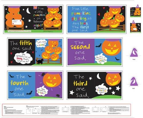 Huggable & Loveable Books Panel, 36,  Five Little Pumpkins on Halloween Night
