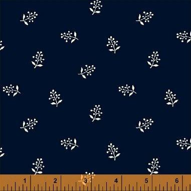 Abigail Blue 50880-1 Navy Flower Sprig