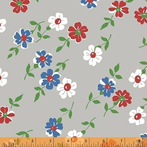 WF-Bounce 51054-5 Grey - Flowers