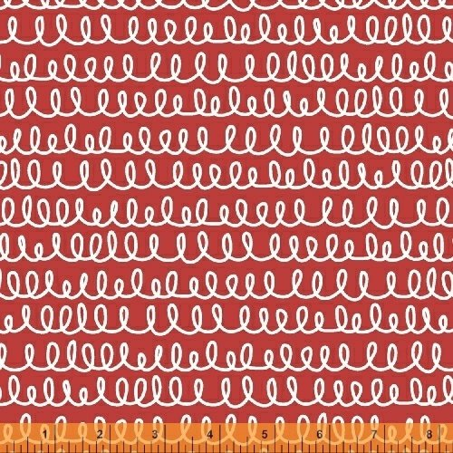 WF-Bounce 51058-2 Red Squiggle Lines