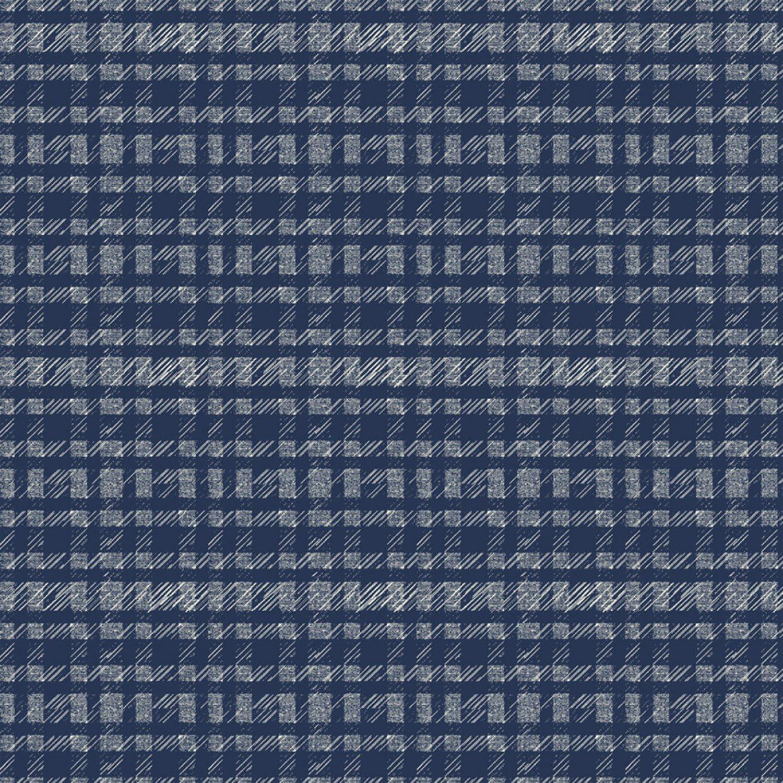 51580 1 Denim Plaid Pottery by Dale Allen-Rowse for Windham Fabrics. 100% cotton 43 wide