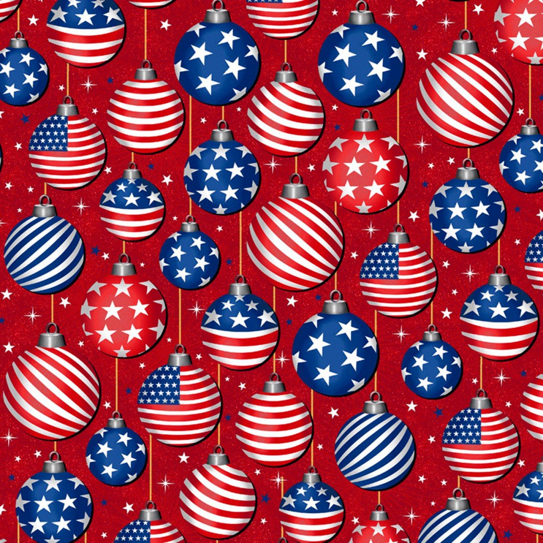 Christmas USA Red - Christmas Ornaments