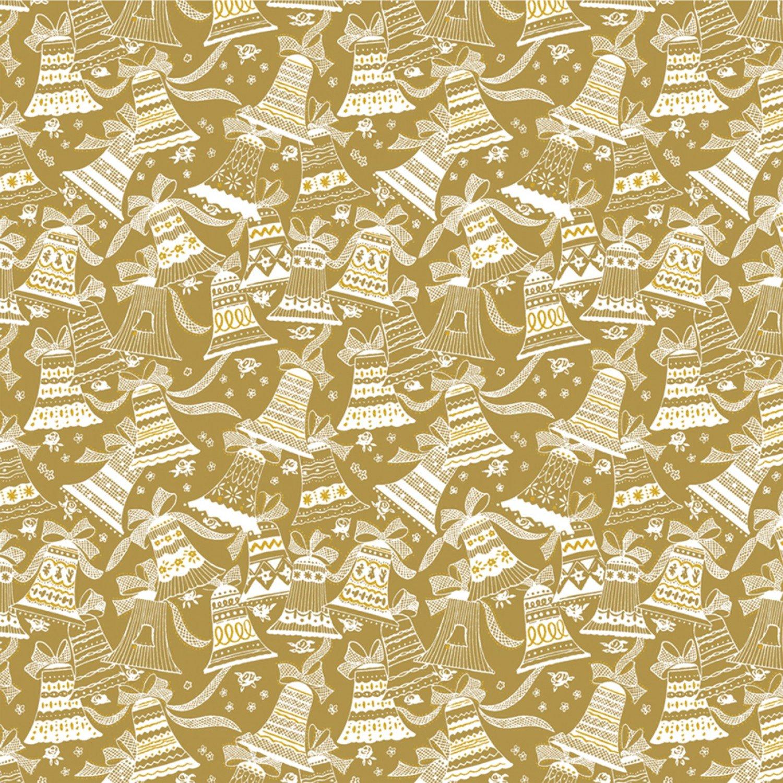 WF-Holiday Village 51774M-1 Gold - Bells w/Metallic