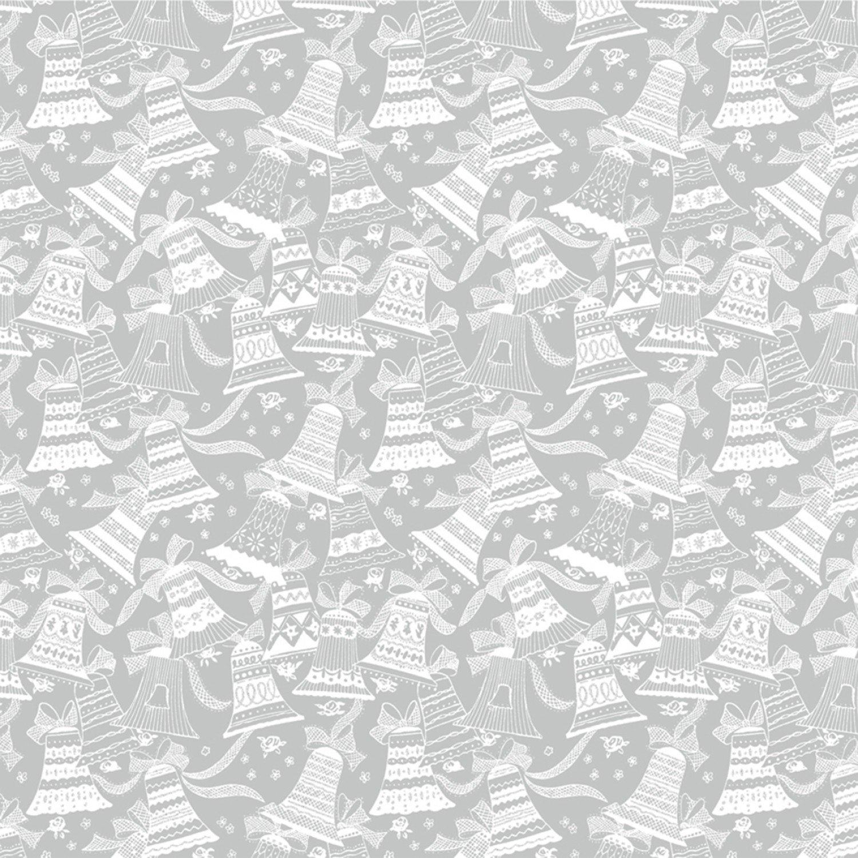 WF-Holiday Village 51774M-2 Silver - Bells w/Metallic