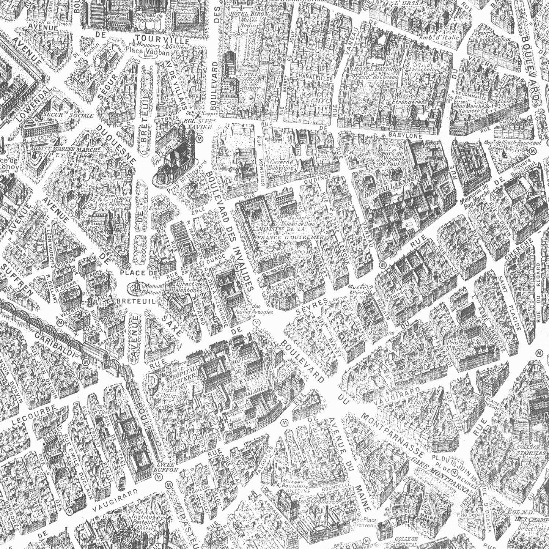 WF-Merci Paris 52138-1 White - Paris Map