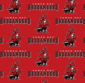NFL - Tampa Bay - TB Buccaneers - Pirate Ship Logo (6488) / Foust Textiles
