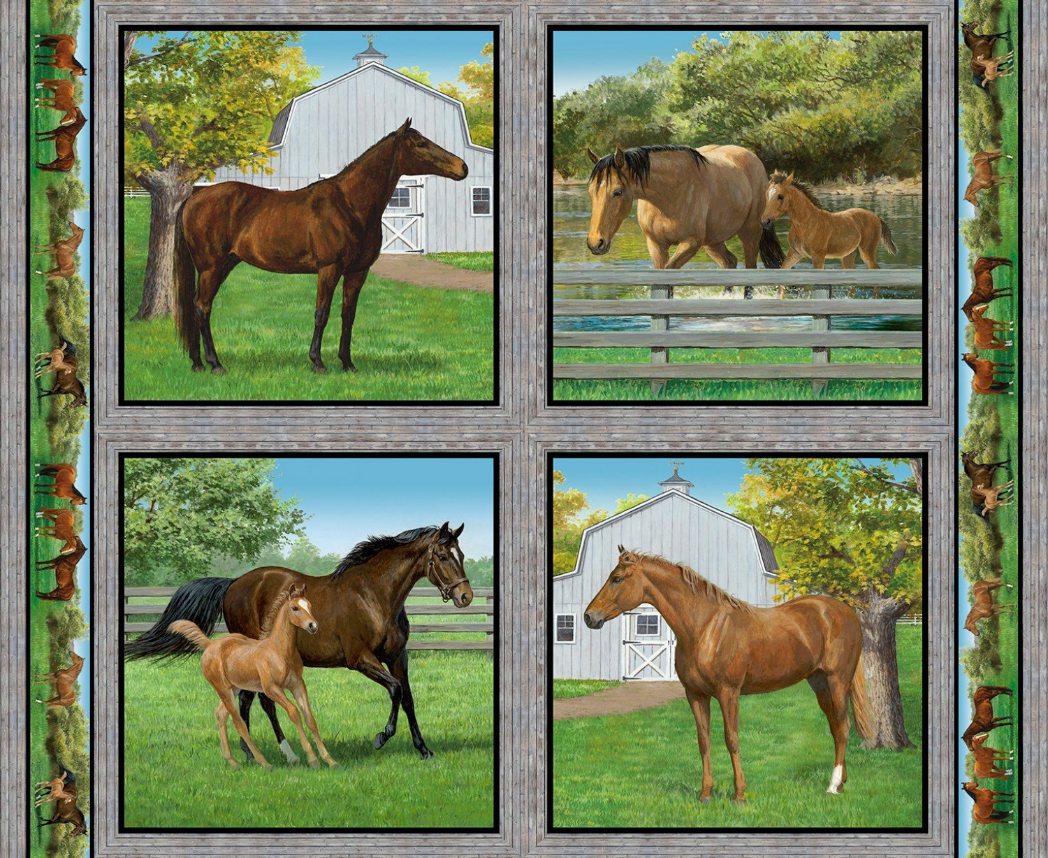 SC-Wild Wings Summer Breeze 66440 Horse Pillow Panel