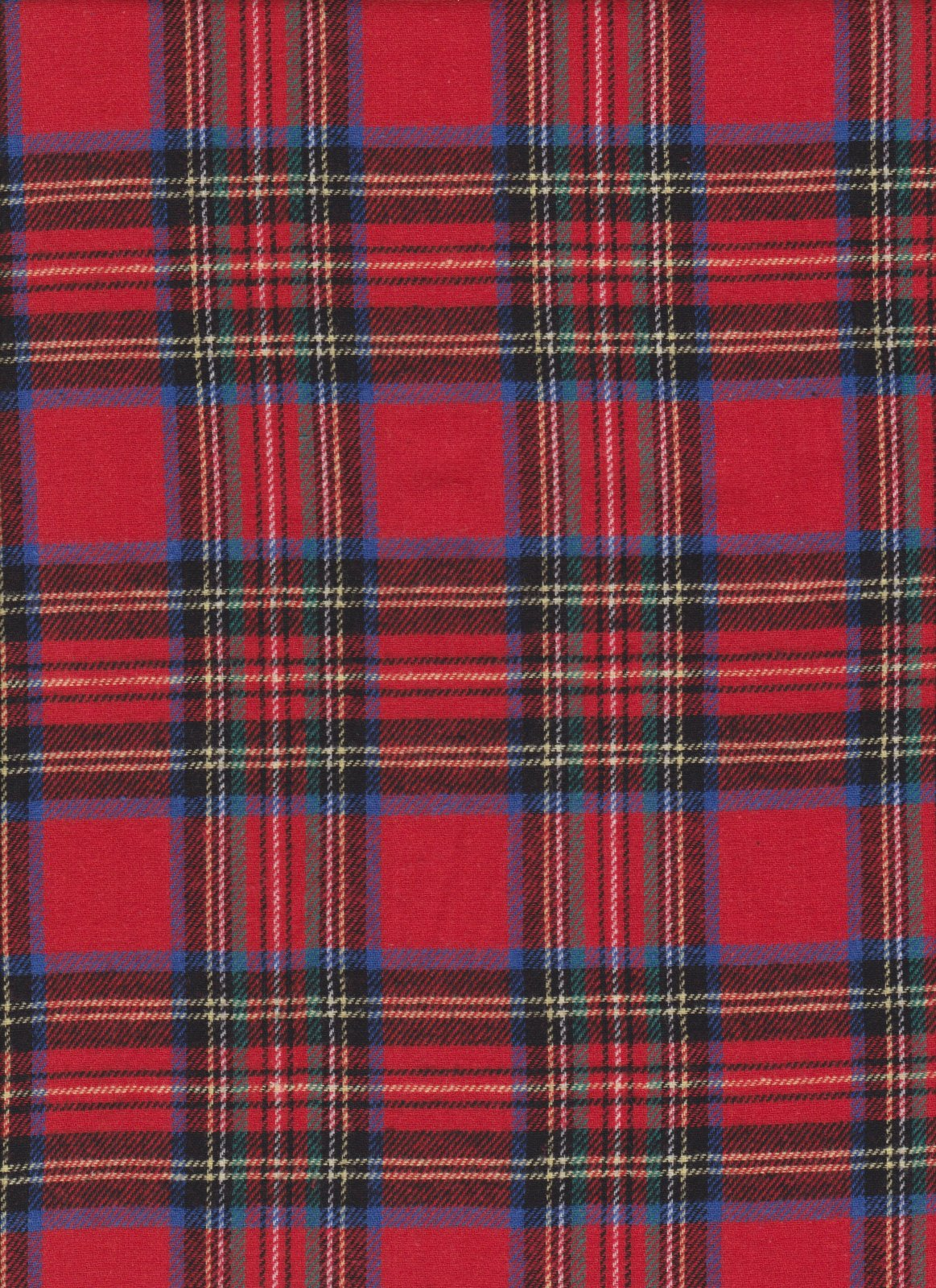 Yarn Dyed Flannel Plaid - Royal Stewart