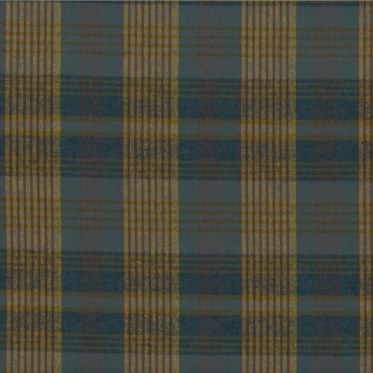 Centenary Collection - Brushed Cotton Plaid Blue/Rust