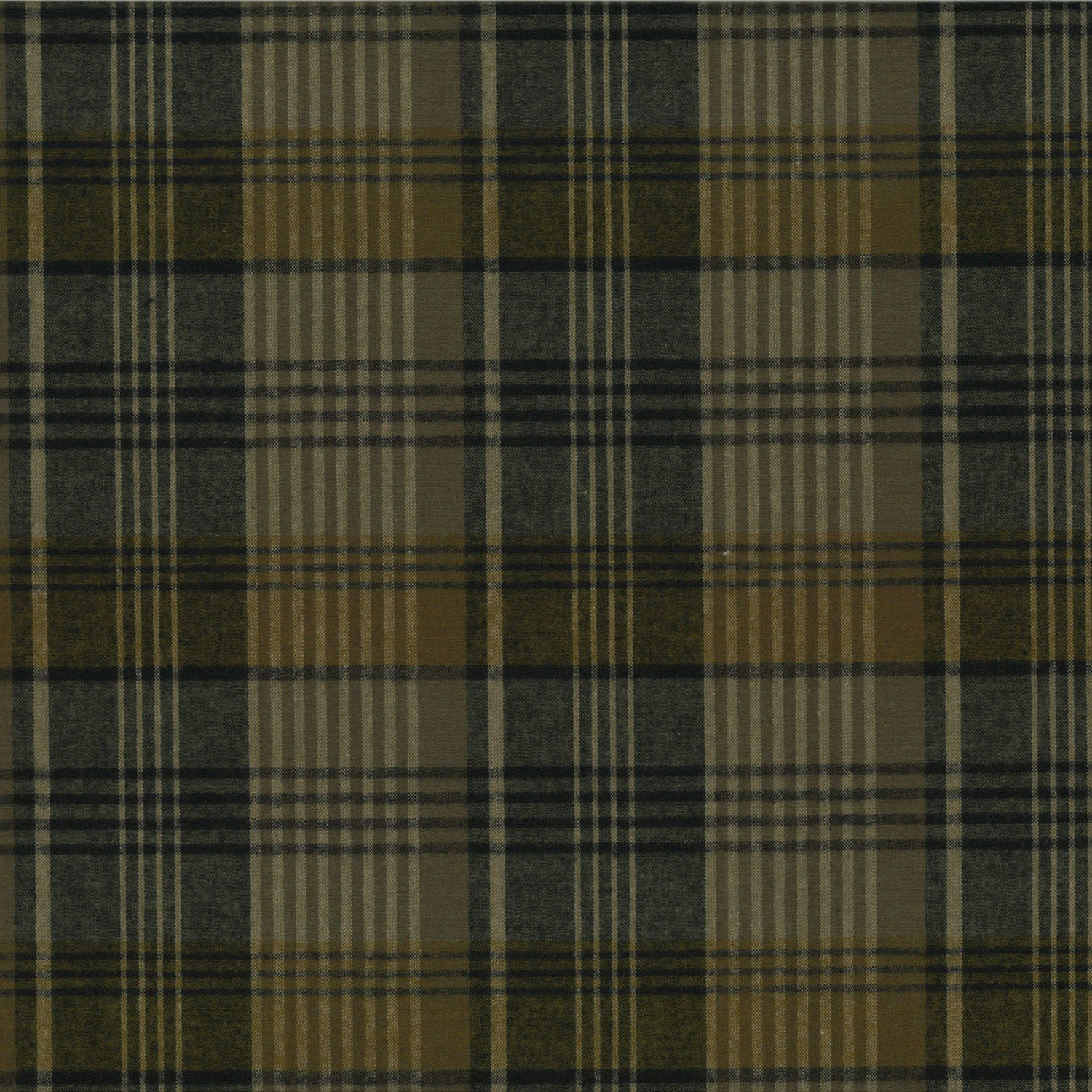 Centenary Collection - Brushed Cotton Plaid Taupe/Gold
