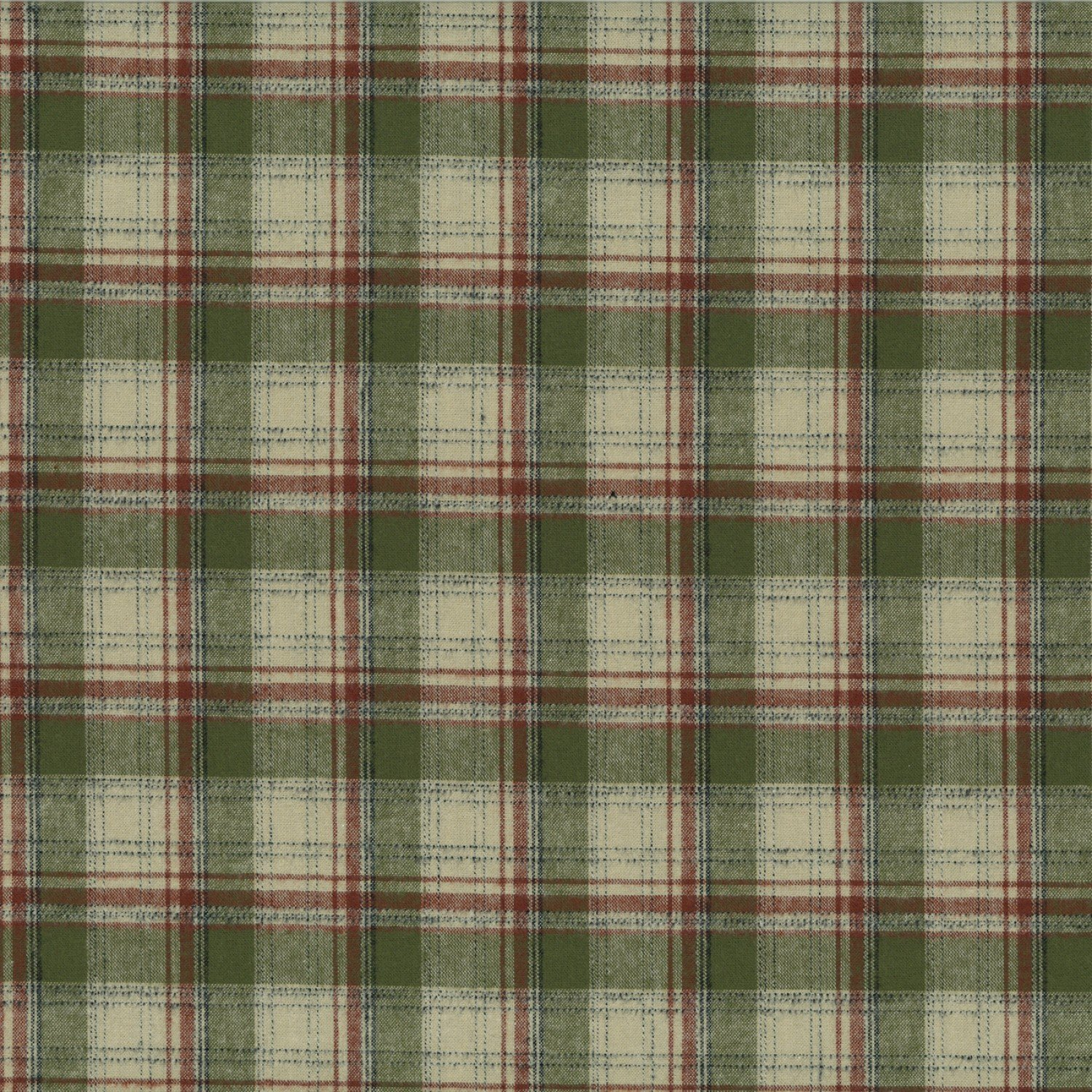 Centenary Collection - Brushed Cotton Plaid Olive/Burgandy