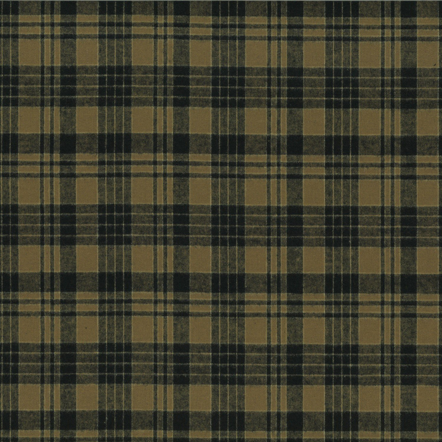 Centenary Collection - Brushed Cotton Plaid Brown/Black