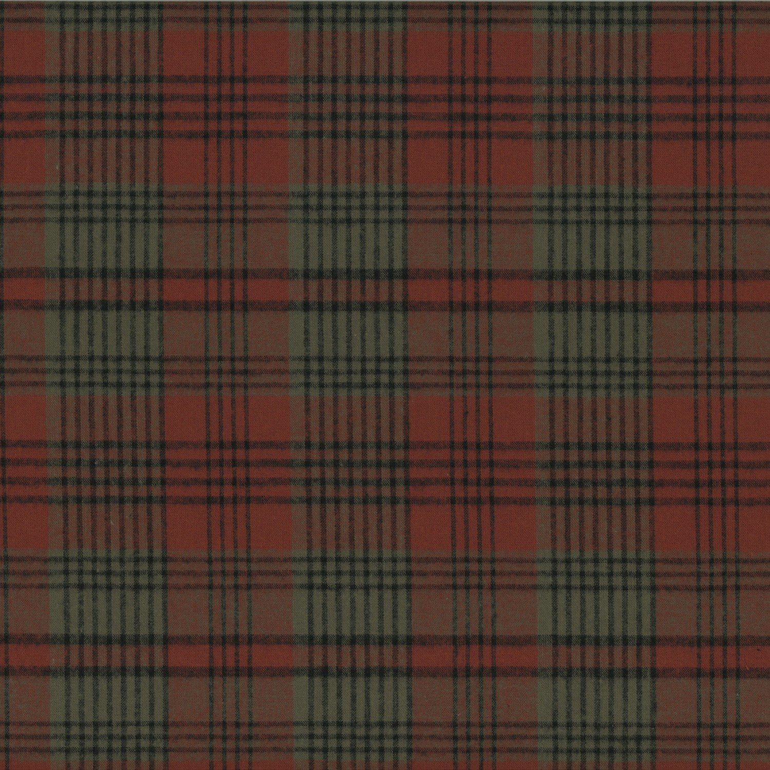 Centenary Collection - Brushed Cotton Plaid Rust/Taupe