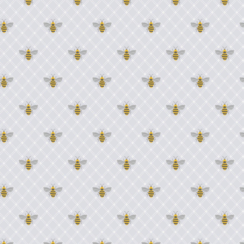 71190205-01Bees- Grey (20B)