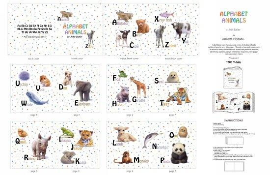 Animal Friends Animal ABC Softbook  - White