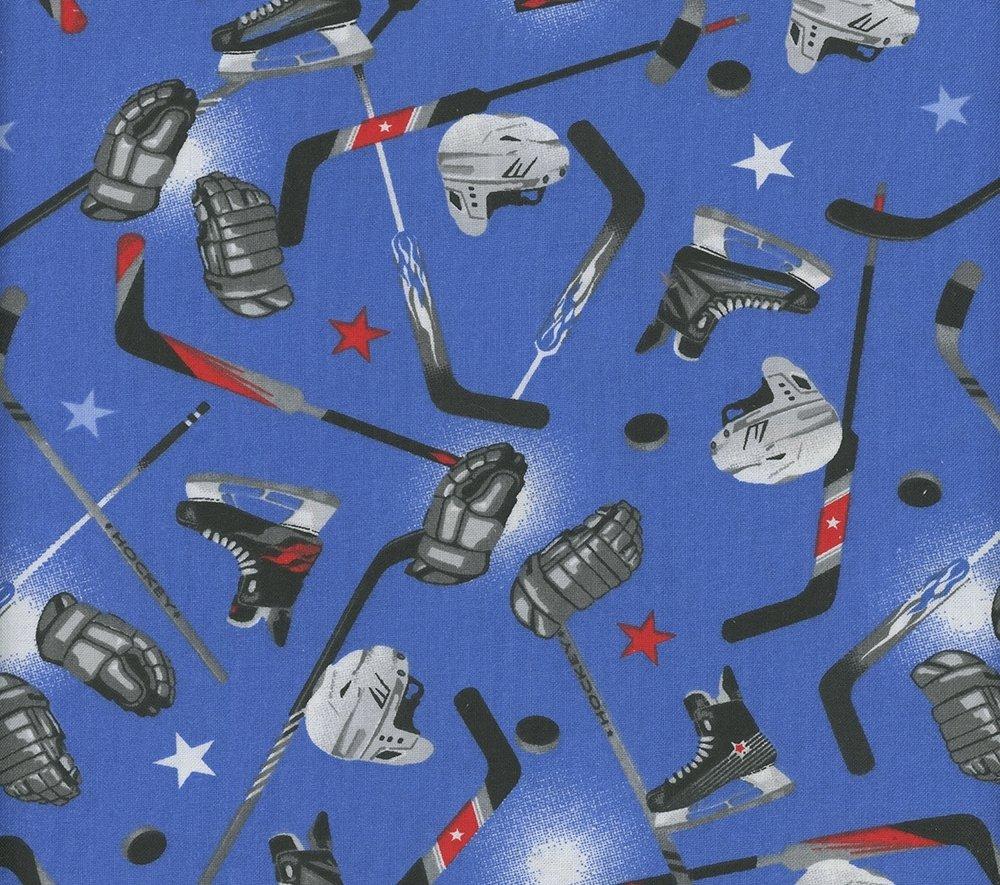 Hockey Prints #91692  Hockey Skates- Blue