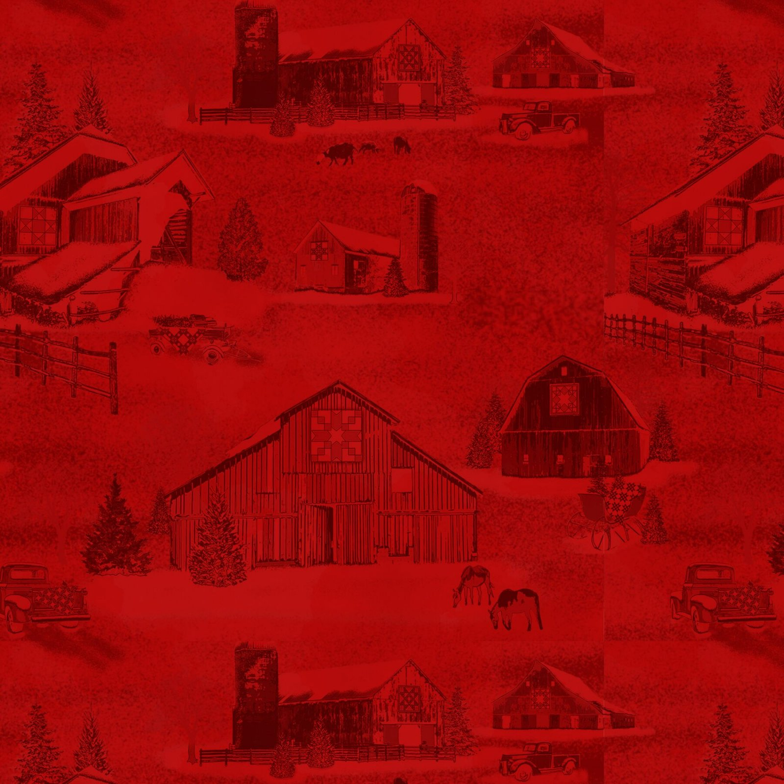 9210-88 Red - Monotone Barns