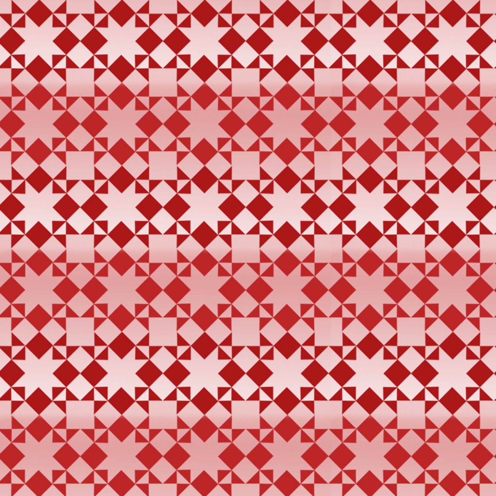 Small Quilt Pattern Red on White