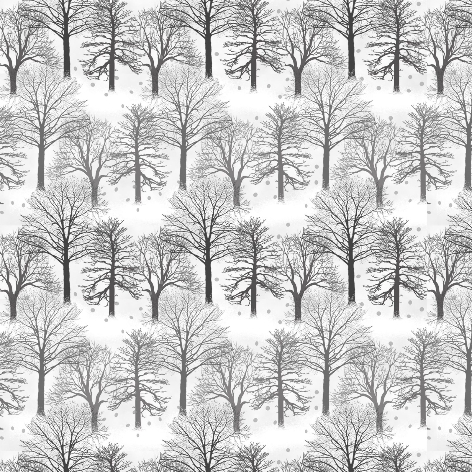 9219-9 Light Gray - Set Trees on White