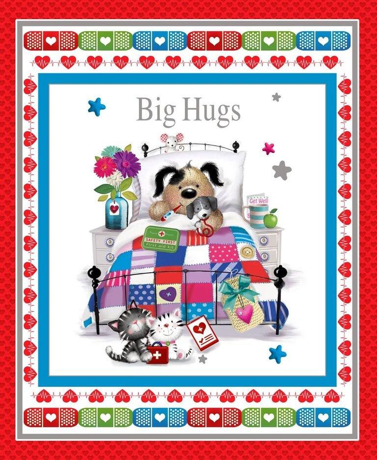 Big Hugs Get Well Banner Panel