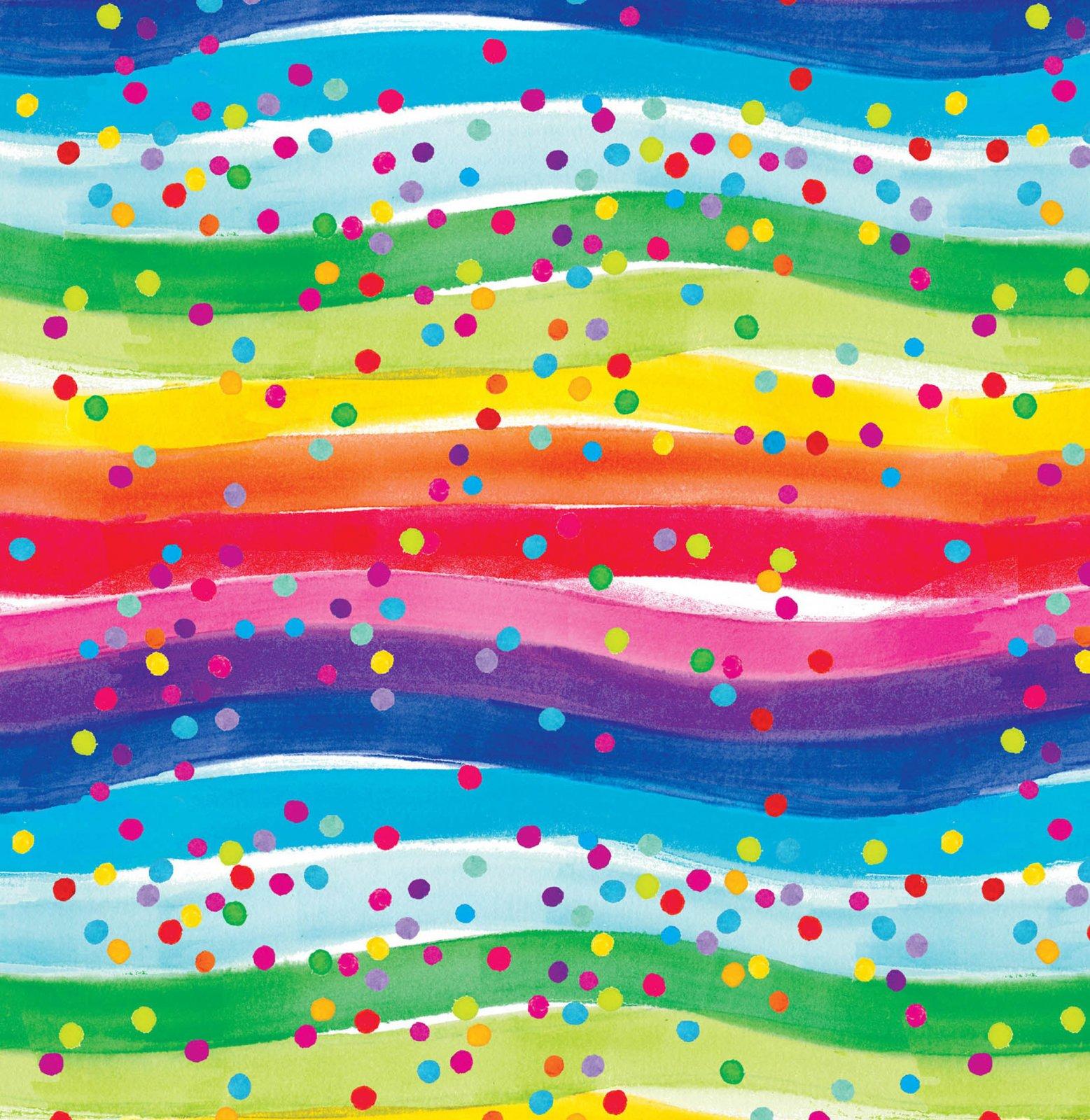 Multi Rainbow Dots Flannel