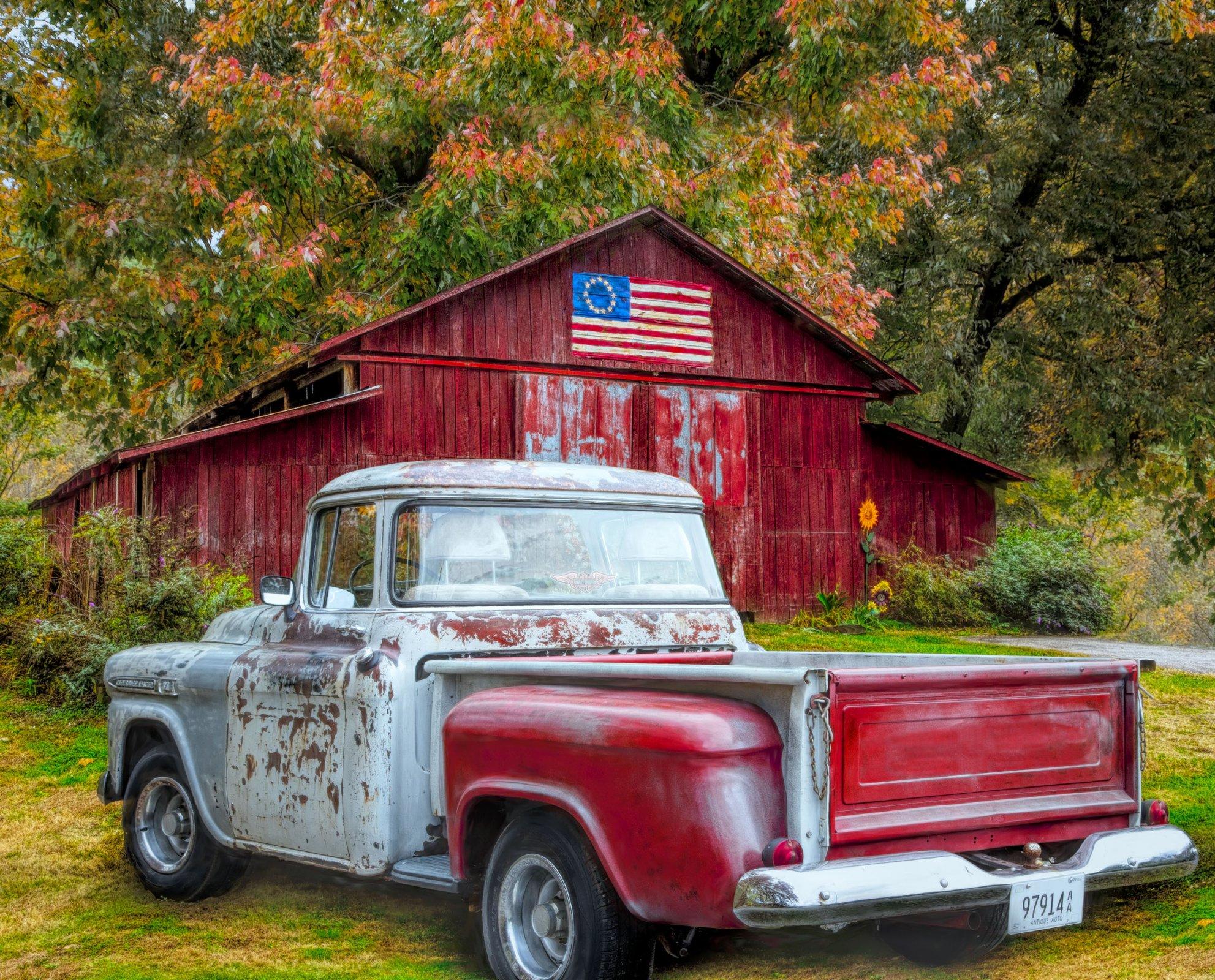 DT-Patriotic Exclusive AL-3779-CW1 Southern Vintage 35.5 x 44 Digitally Printed ...