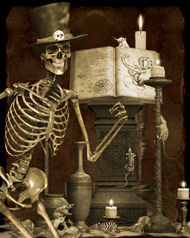 DT-Holiday Spirit  Halloween Graveyard Panel (35.5 x 44)