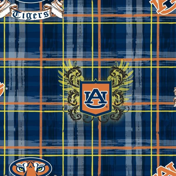 Auburn University Plaid All Over