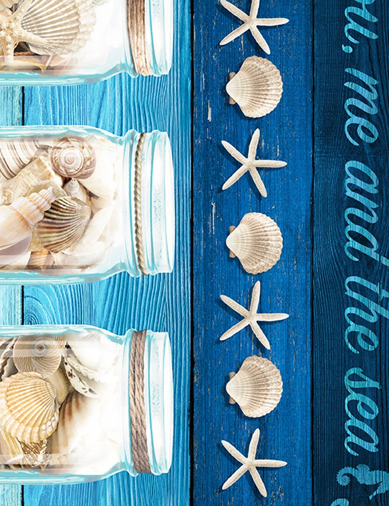 C6745 Blue - Take Me to the Beach Stripe