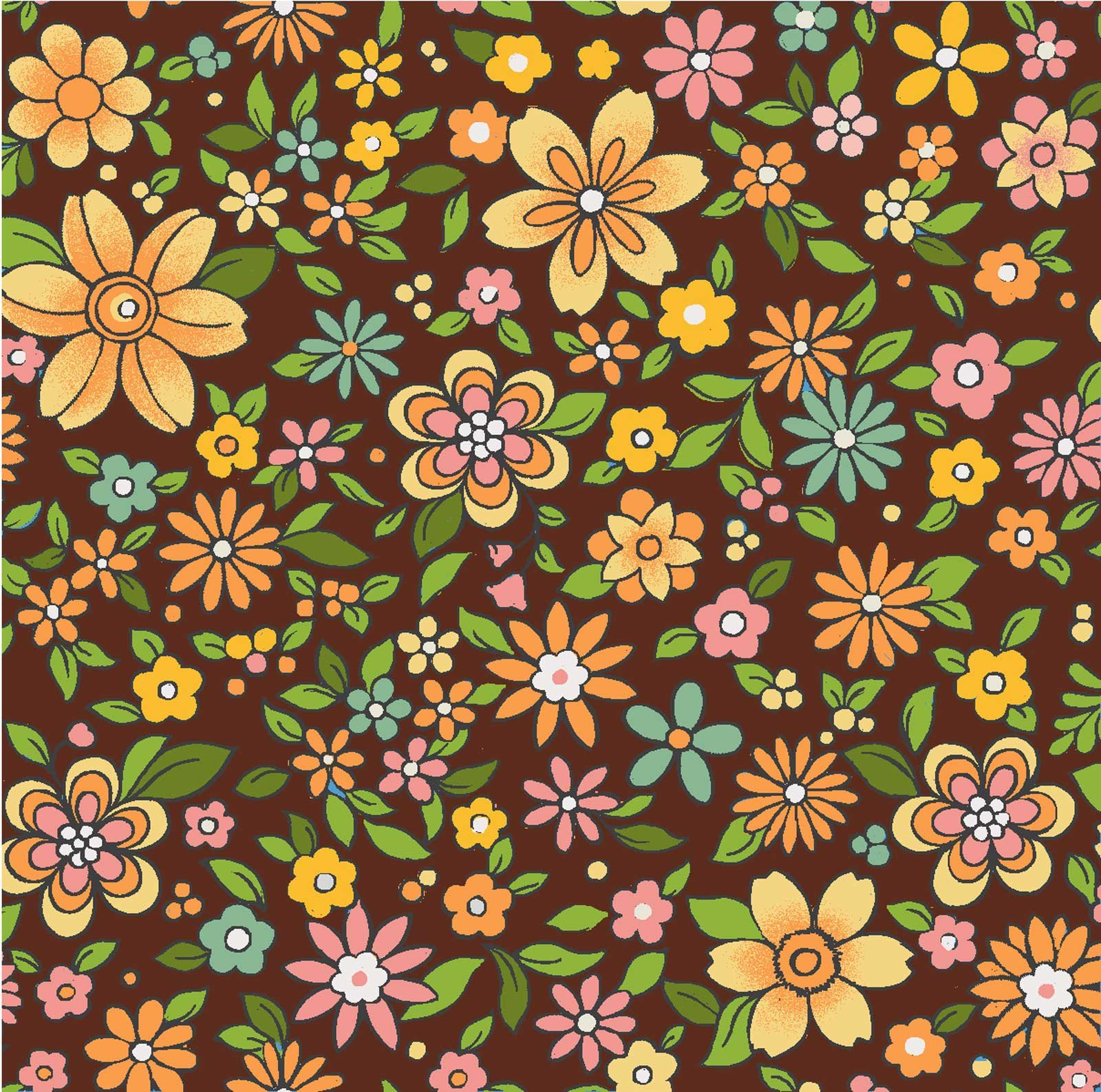 Boho Chic Brown Floral