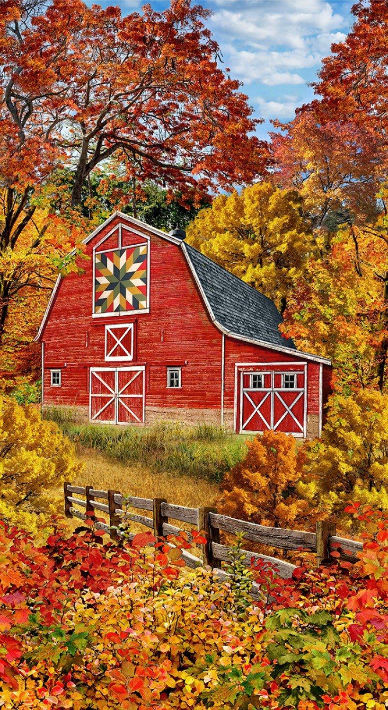 Autumn Barn Panel