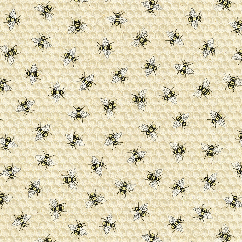 TT-Bee C7173 Natural - Bees & Honeycombs