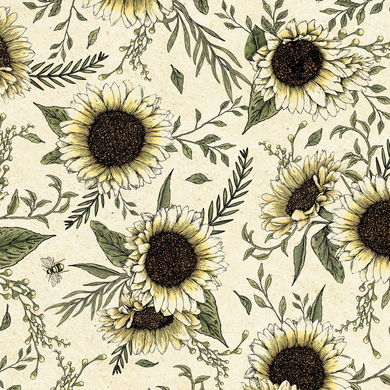 TT-Bee C7174 Natural - Sunflowers