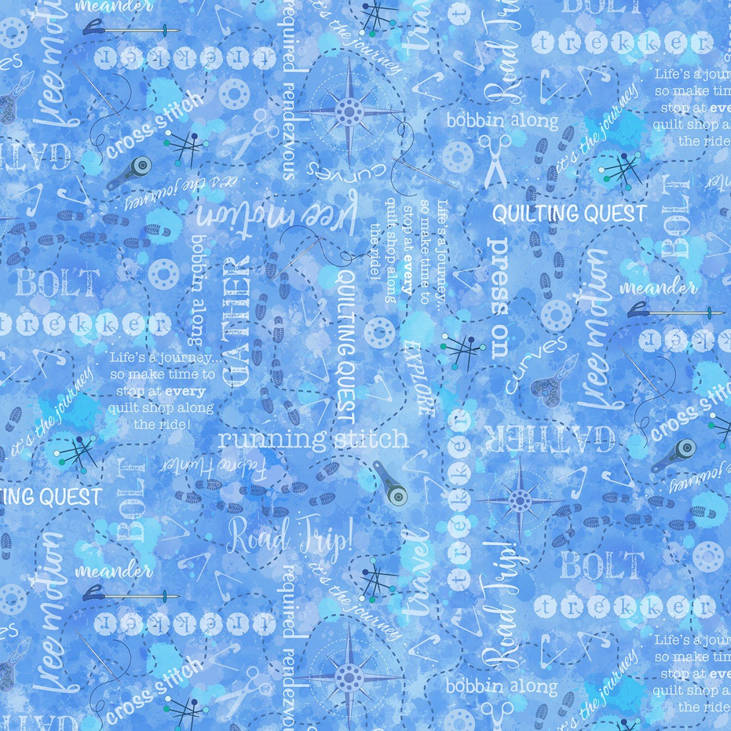 TT-QTI C7735 Blue - Quilters Words