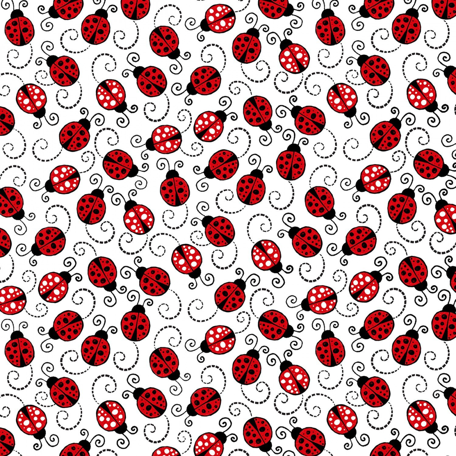 Valentine TT-Gail C7744 White - Happy Ladybugs