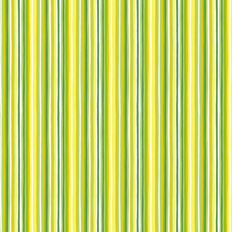 Timeless Treasures Splash of Lemon Stripe - Green (Min. order of 1 meter)