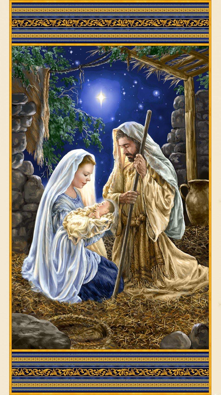 Digitally Printed Nativity Glory Panel