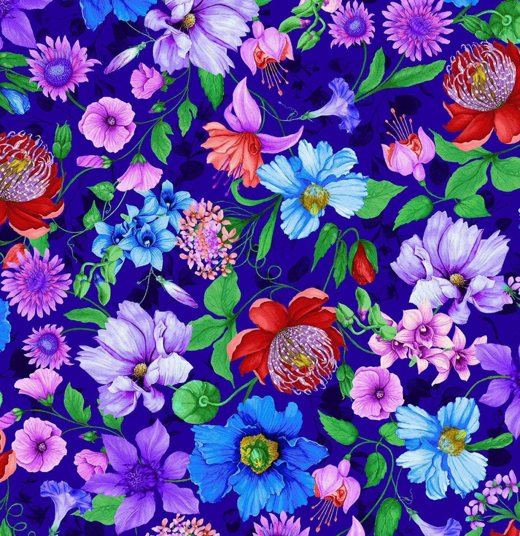 Timeless Treasures Fantasy Royal Allover Floral