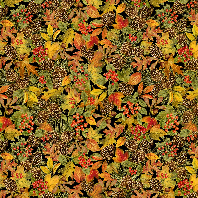 Harvest Multi Leaves & Pinecones w/Metallic