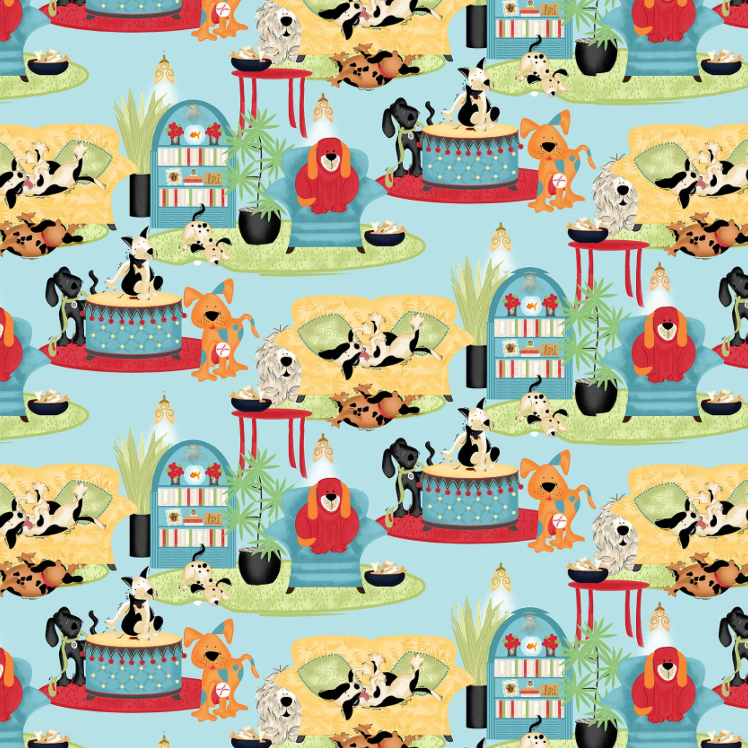 House Dogs by Lorilynn Simms for Springs Creative