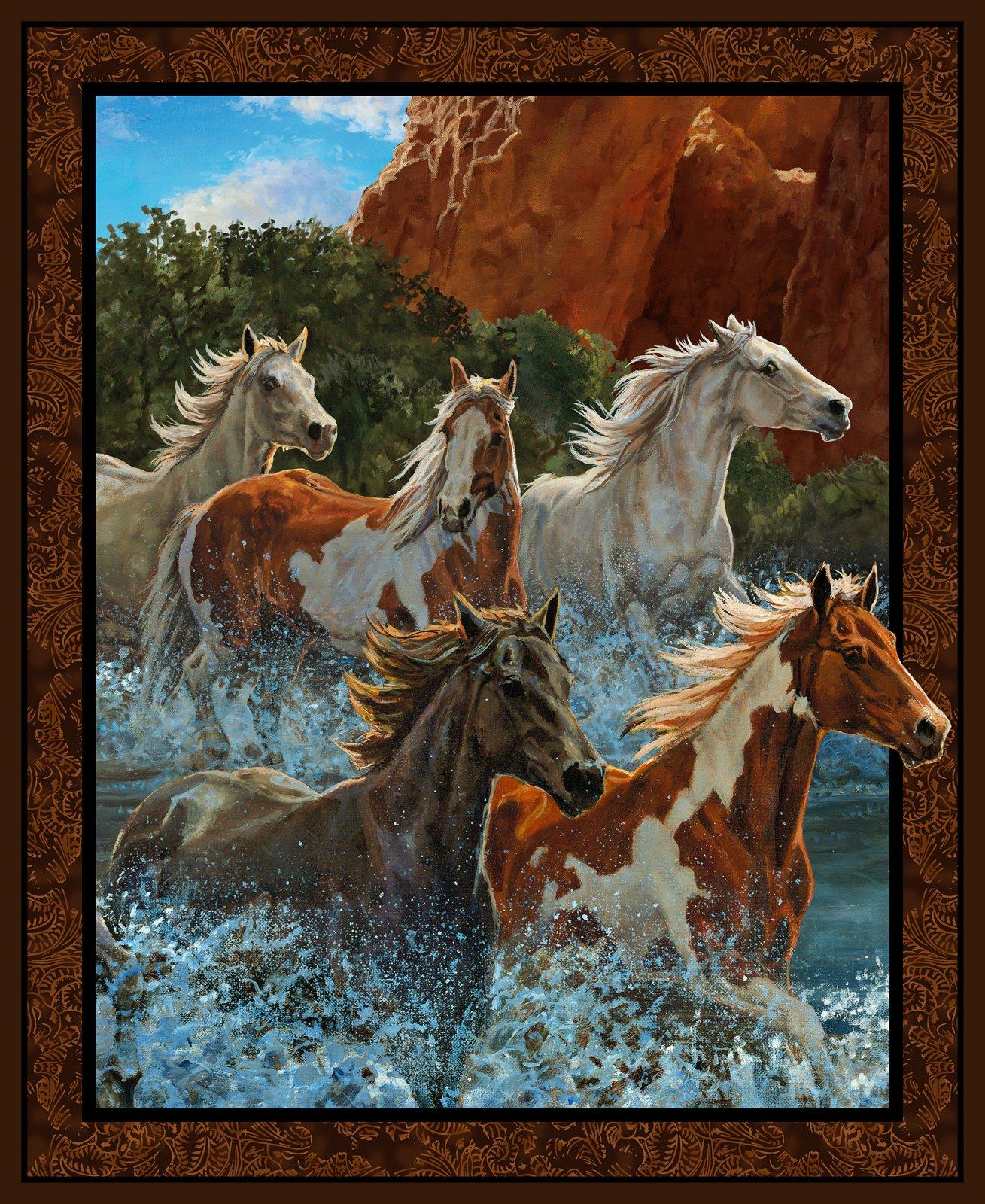 WW River Horse Panel
