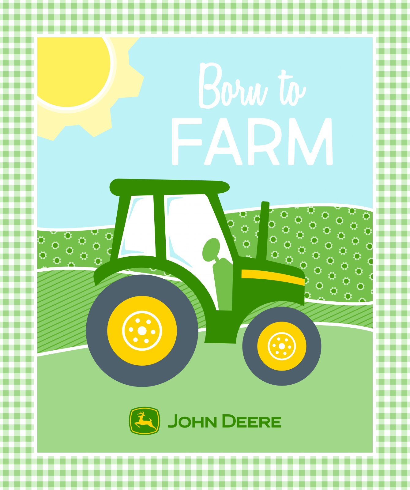 SC-John Deere Nursery 66230 Born to Farm Panel