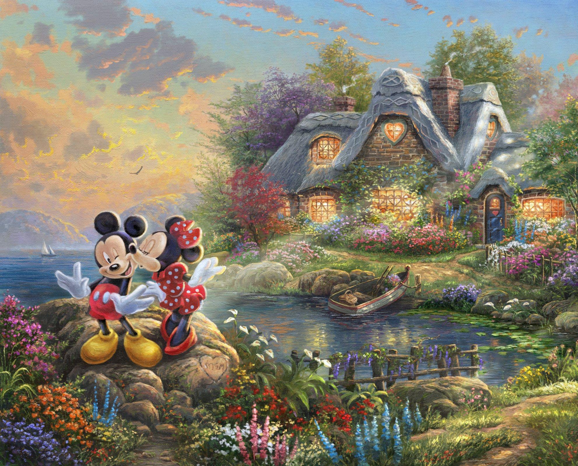 DT-Disney Dreams~ Cove  DS-2022-9C-1 Sweetheart Panel (35.5 x 44)