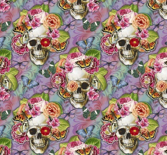 Springtime Skulls and Roses Floral