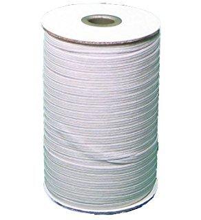 1/4 elastic WHITE