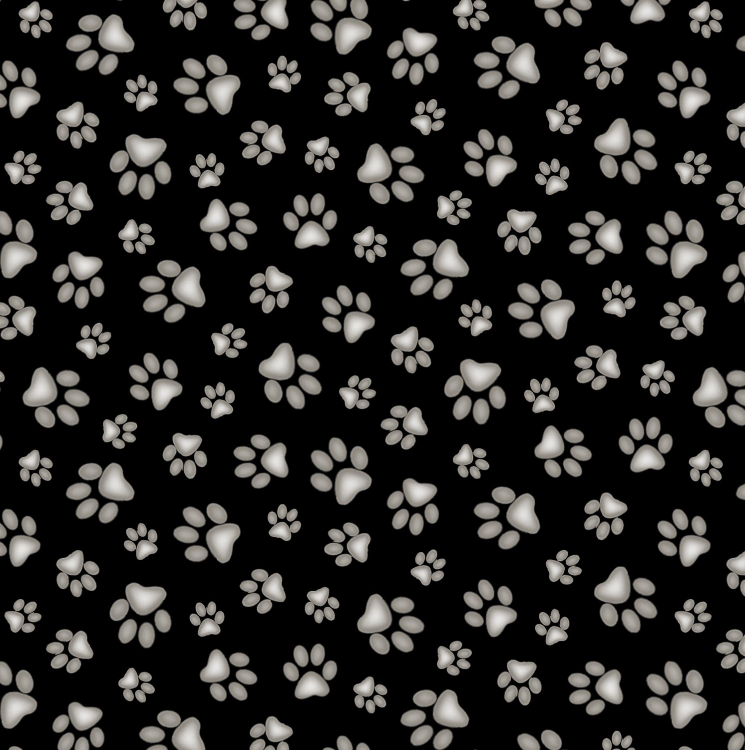 181 Black Paw Print