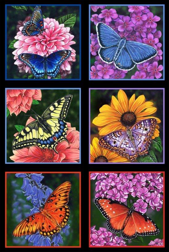 ES-Butterfly Garden 6400 Black - Butterfly Panel